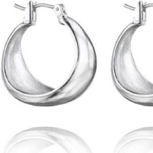 Chloe and Isabel Silver Hoop Earrings